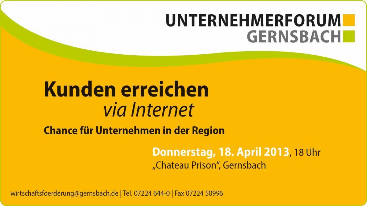 Kunden erreichen via Internet